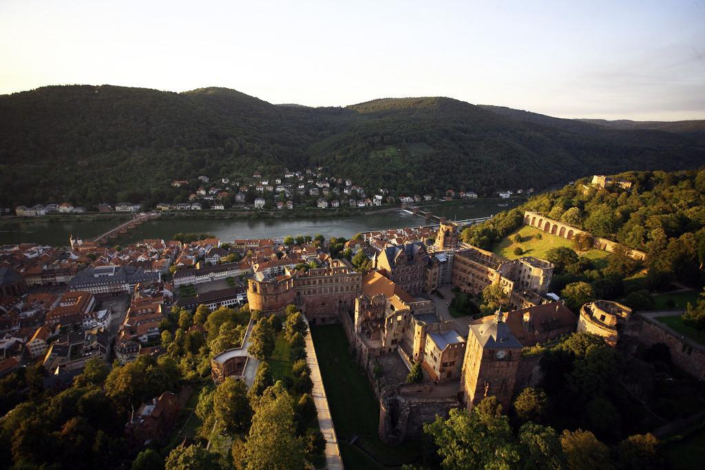 Facade lighting of Heidelberg castle